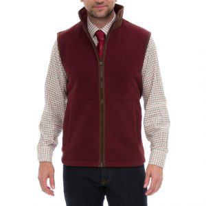 Aylsham Gents Fleece Gilet Bordeaux