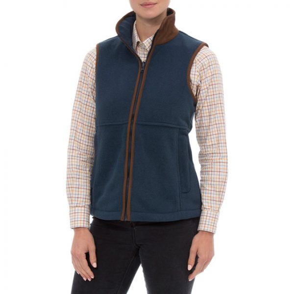 Aylsham Ladies Fleece Gilet Blue Steel