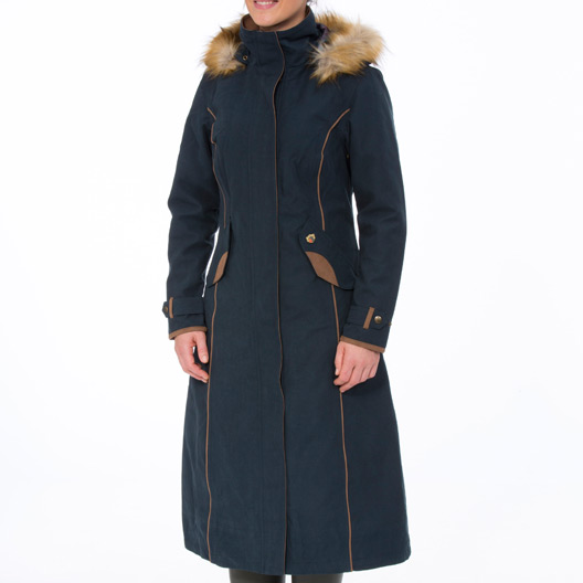 Berwick Ladies Long Coat Navy