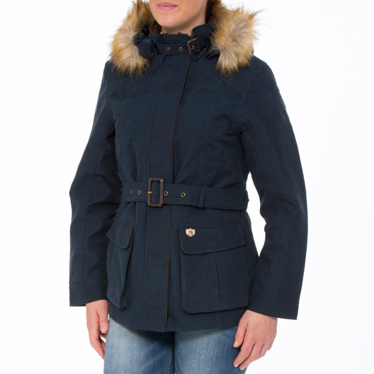 Berwick Ladies Waterproof Coat Navy