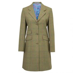 Compton Ladies Mid Length Coat Juniper