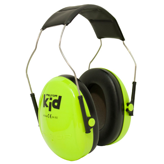 Kids peltor ear defenders yellow