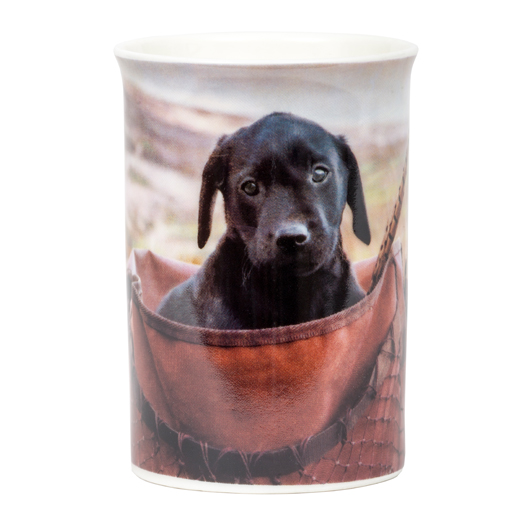 Lab pup in game bag mug