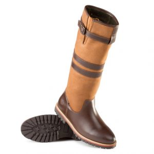 Ladies Leather Tall Waterproof Boot Brown