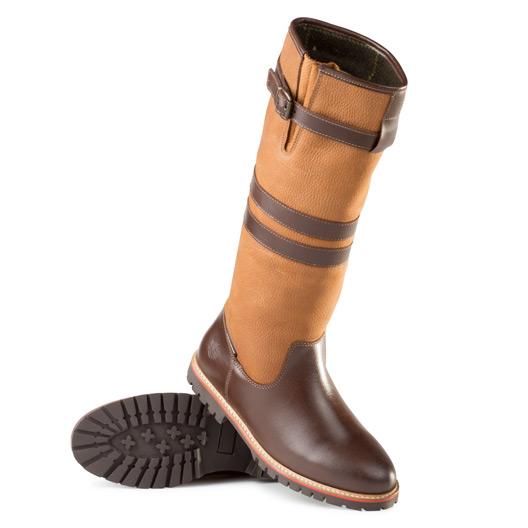 Ladies Leather Tall Waterproof Boot Brown