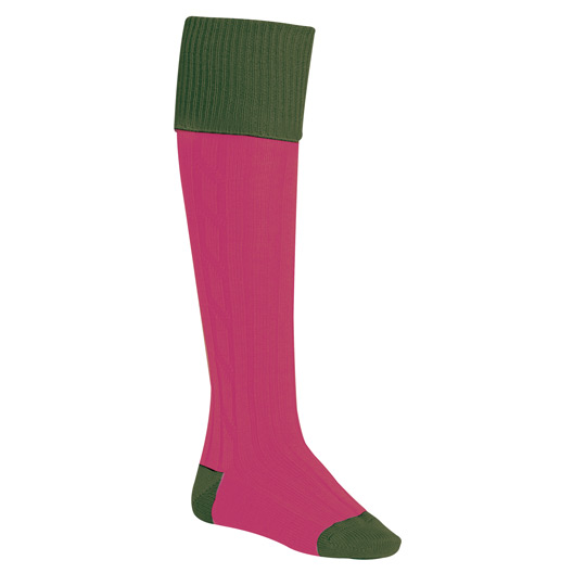 Ladies Socks in Seagreen & Pink
