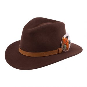 Unisex Felt Hat Brown